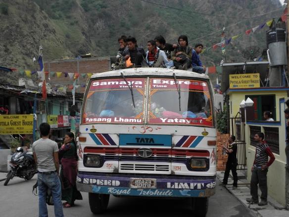 Notre bus, une fois le devoir accompli